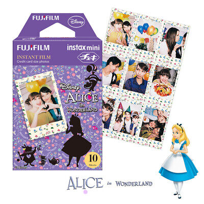 Disney Alice Fujifilm Instax Mini 10 Sheets Film Fuji 8 9 SP-2 Instant Photo