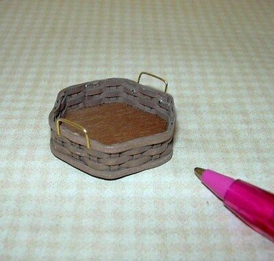 Miniature Chandronnait 6-Sided Serving Basket for DOLLHOUSE 1/12 Scale