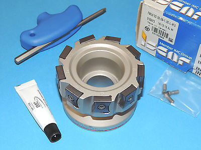 """ISCAR TANGMILL 3"""" Indexable Face Mill w/ Inserts (F90LN D3.00-09-1.00-L-N15)"""