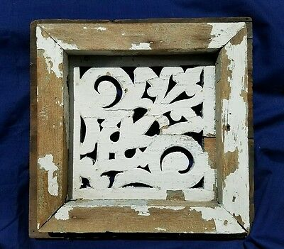 Reclaimed Vintage Antique House Attic Vent Ornate Carved - lowered price!