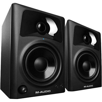 "M-Audio AV42 Professional 20 Watt Home Recording Studio Monitor 4"" Speakers Pair"