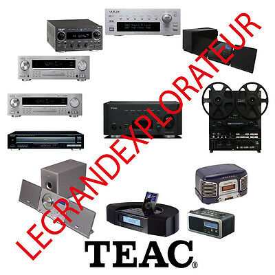 Ultimate TEAC  Repair, Service Manuals & Schematics  (620 PDFs manual s on DVD)