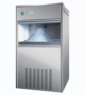 Commercial Snow Flake Ice Maker Making Machine 100KG/24h 40KG Storage Capacity