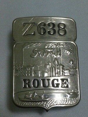 "Vintage Ford Employee Badge ""Z638 Rouge"""