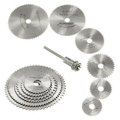 Cutting Discs Mandrel HSS Rotary Circular Saw Blades Tool  Cutoff Accessory 7PCS