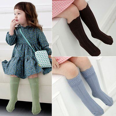Kids Girl Leg Warmers Boot Cuffs Socks Todder Baby Knee High Sock 0-4years old