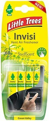 Magic Tree INVISI Vent Clip GREEN VALLEY Air Freshener - Little Tree 4 Pack