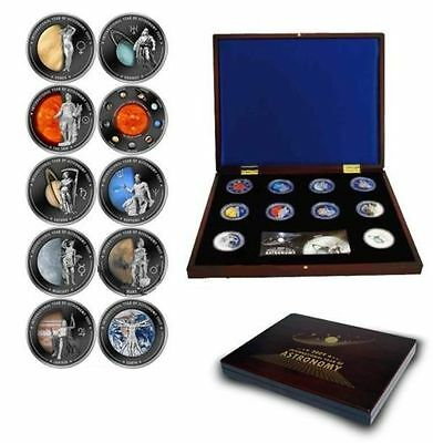 Cook Islands 2009, Year of Astronomy, Solar System, 10 piece coin set! $1 Planet