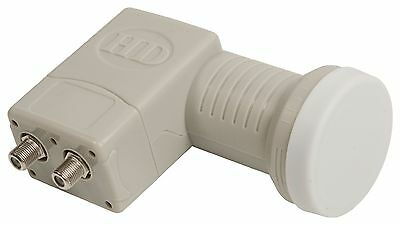 LNB TWIN 2 DOUBLE SORTIES INDEPENDANTES 0.2 dB TETE SATELLITE HD ASTRA HOTBIRD