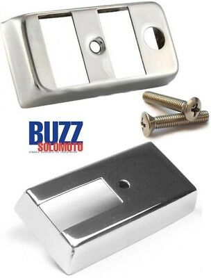 Vespa PX Light and Indicator Switch Covers with Screws in Stainless Steel