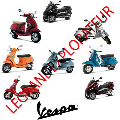 Ultimate Vespa & Piaggio  Repair  Service Maintenance Manuals  (Manual s on DVD)