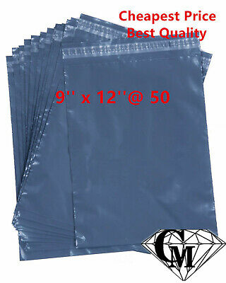 """50 x 9x12"""" 9 x 12"""" GREY CHEAP STRONG MAILING POSTAGE BAGS OFFER ends 15.07.2016"""