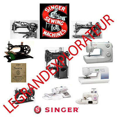 Ultimate Singer Sewing Machine  Service Repair Parts manuals (2160 manual s DVD)