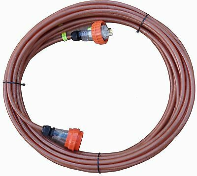 15 Amp IP66 Screened Extension Lead: 3 pin flat,240V. Cable CSA:2.5mm², Cord:30m