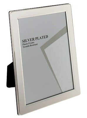 """JULIANA SILVER PLATED FLAT EDGE PICTURE PHOTO FRAME - 4""""x6"""""""