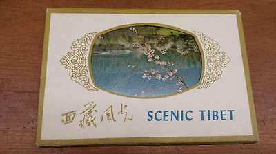 Group Of 6 Scenic Tibet China Nature Multiview Foldout Antique Postcards K16544