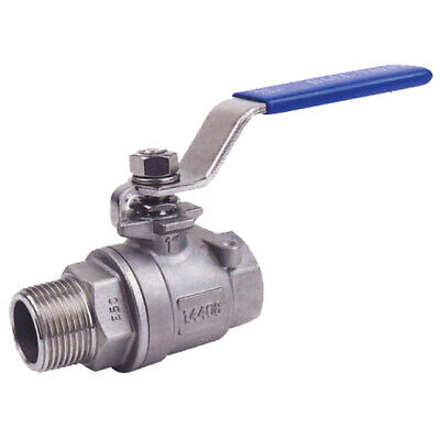 "STAINLESS STEEL 316 BALL VALVE - MALE x FEMALE BSPP - 1/4"" to 2"" - RATED PN63"