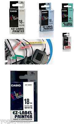 NASTRO CASIO 18MMx8MT EZ LABEL PRINTER DISPONIBILI VARI COLORI