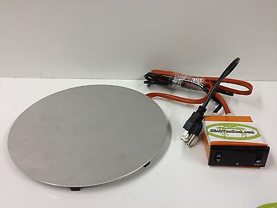 """8"""" (in) Vacuum Chamber Digital Controlled Stainless Steel Heating Plate."""