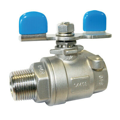 "STAINLESS STEEL 316 BALL VALVE - MALE x FEMALE BSPP - 1/4"" to 1"" - RATED PN63"
