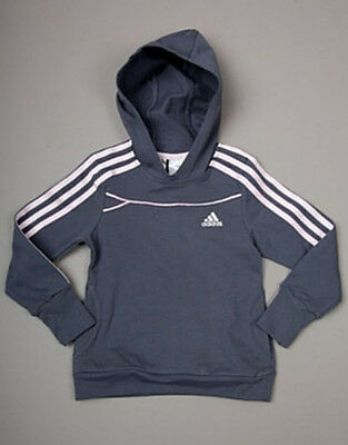 adidas V35083 Girls LG ET Hooded Sweatshirt Top Brand New With Tags Grey/Pink