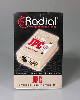 NEW Radial JPC - Computer Direct Box for Connecting Computer to Audio System