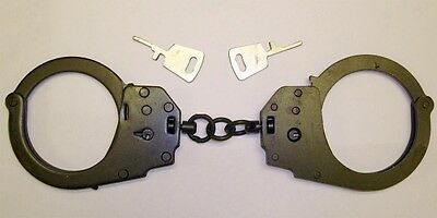 NEW Professional HANDCUFF POLICE COP HEAVY DUTY MILITARY LEVEL DUBLE LOCK 2 KEYS