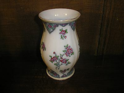 Losol Ware FLORAL hand decorated VASE/TOOTHBRUSH HOLDER - 14cms