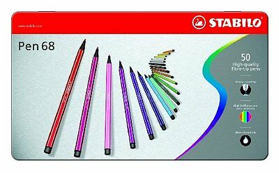 Stabilo Point 68 50-color Pens Metal Tin Set