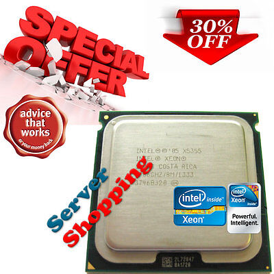 Intel Xeon Quad Core X5355 2.66 GHZ 8M SLAC4 Processor for Dell Poweredge 2900