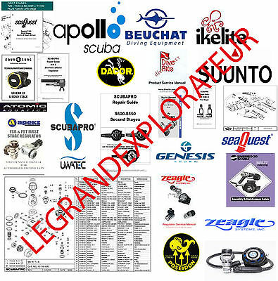 Scubapro MK16 MK17 MK20 MK25 G250 S600 Maintenance Repair Service Manuals manual