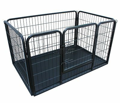 FoxHunter Heavy Duty Pet Dog Puppy Training Cage Crate Enclosure Metal MPC-01L