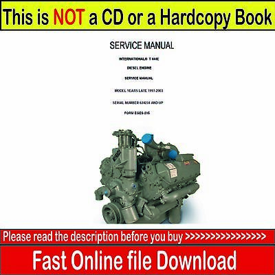 international navistar t444e diesel engine 1997 2003 service manual rh picclick com