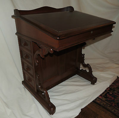 Outstanding Davenport Desk late Renaissance Revival 19th Century slant lift-top