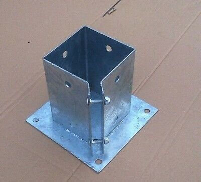 Galvanised Bolt Down Fence Post Grip Support Anchor Post Holder Like Metpost