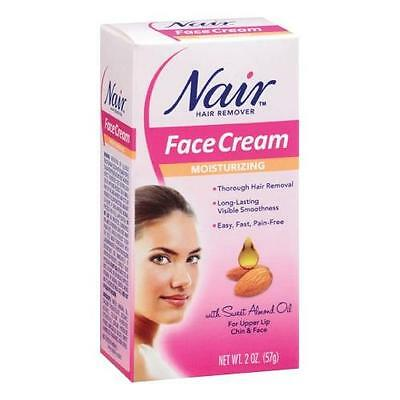 Nair Hair Remover Moisturizing Face Cream 2 oz Each