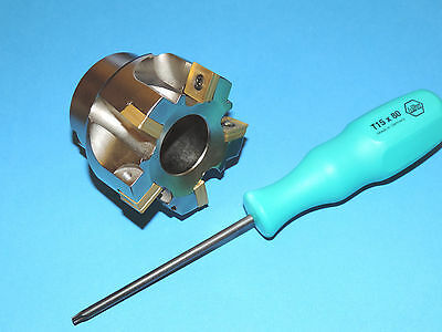 """NEW 2.50"""" Square Shoulder Milling Cutter w/ SECO SONX Inserts"""