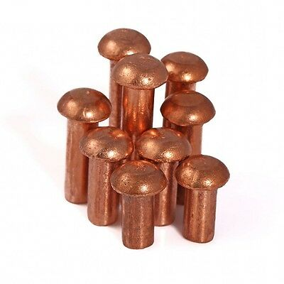 Button Round Head Solid Copper Rivet Knurled Rivet Nut Insert M6 M8