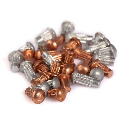 Round Head Solid Copper Rivet & Aluminum Knurled Rivet Nut Insert M2 M2.5 M3