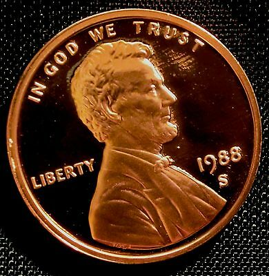 1988-S San Francisco Mint Lincoln Memorial Cent Proof