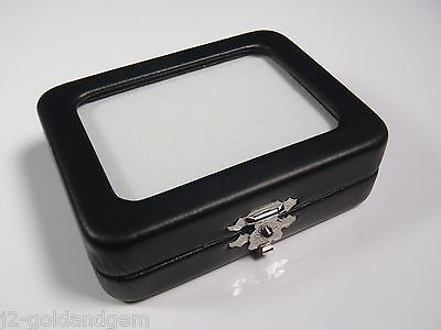 "GLASS TOP GEM BOX -3.25x2.5"" - Storage/Display gold nugget,gemstone,coin,mineral"