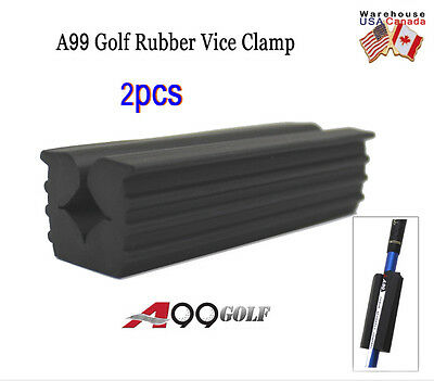2pcs A99 Golf Rubber Vise Clamp For Golf Club Shafts, Regripping, Vice Clamp