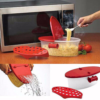 Microwave Pasta Boat Cooker Spaghetti Cooking Tool Vegetable Kitchen Gadget Box