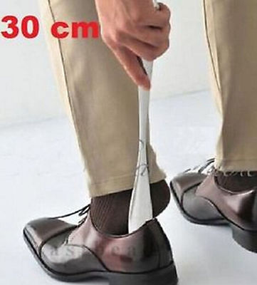 "FD2011 Durable Stainless Steel Shoe Horn Shoehorn Lifter Long Handle 30cm11.5"" ♫"