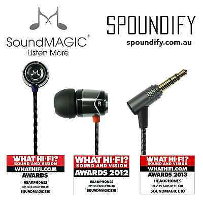 Grey Black Metal Gun New SoundMAGIC E10 for iPhone and Android In Ear Earphone