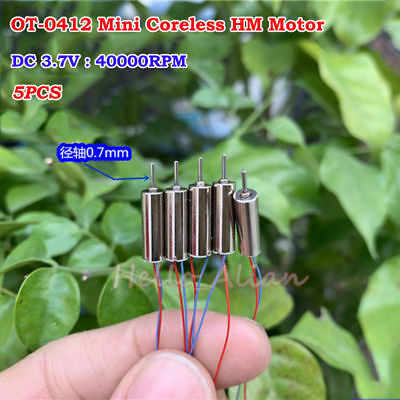 0412 4mm*12mm DC 3.7V 68000RPM High Speed Mini Tiny Coreless Motor for RC Drone