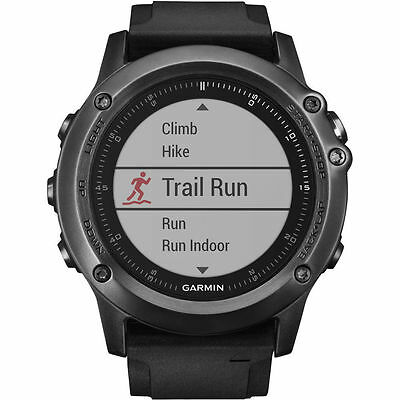 New Garmin Fenix 3 Hr Gps Fitness Running Watch Sapphire + Gym Gift Pack Express