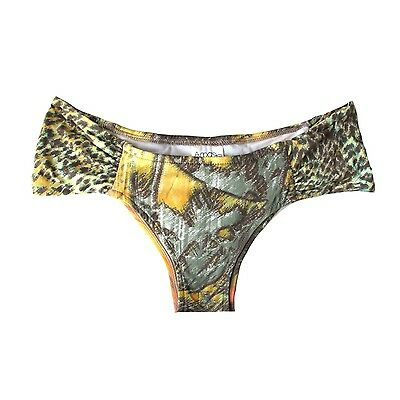 eb5b61cee52 Brazilian Cut Bikini Bottom Cheeky Thong Yellow Beach Animal Print  Arpabikineria