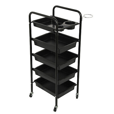 5 Drawer Salon Trolley Hairdresser Coloring Hair Beauty Spa Rolling Storage Cart