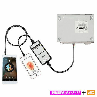 3.5mm Car Mp3 Player Interface AUX In Adapter With Iphone5  For   Toyota 6+6pin